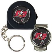 Tampa Bay Buccaneers 6' Tape Measure Key Chain and Money Clip Set