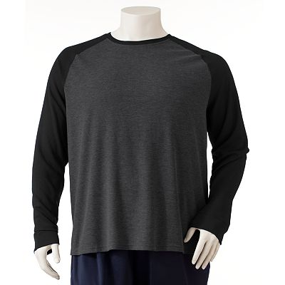 Tek Gear Raglan Performance Thermal Tee - Big and Tall