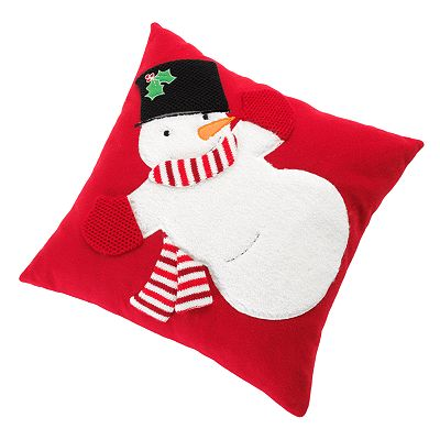 St. Nicholas Square Snowman Decorative Pillow
