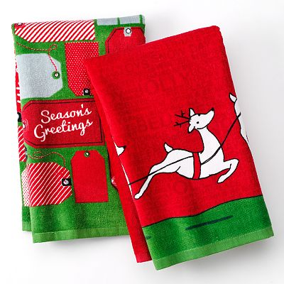 St. Nicholas Square Reindeer 2-pk. Kitchen Towels
