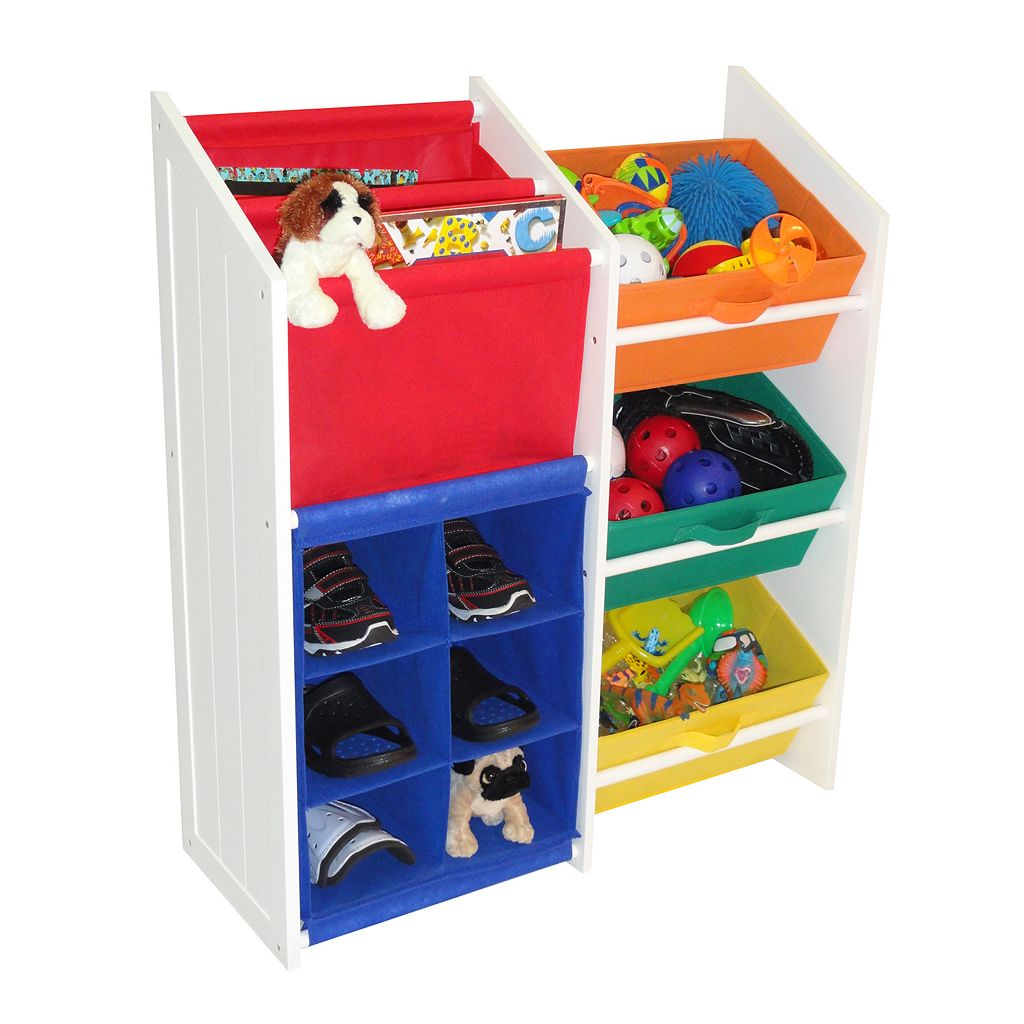 RiverRidge Kids Super Storage Bins, Cubbies and Bookshelf Unit