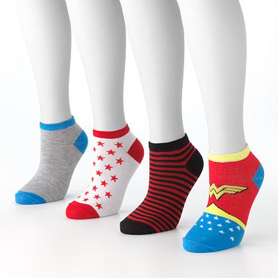 Wonder Woman 4-pk. Stripes and Stars No-Show Socks