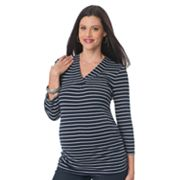 Oh Baby by Motherhood Striped Ruched Tee - Maternity
