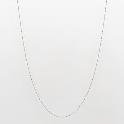10k White Gold Venetian Box Chain Necklace - 18-in.
