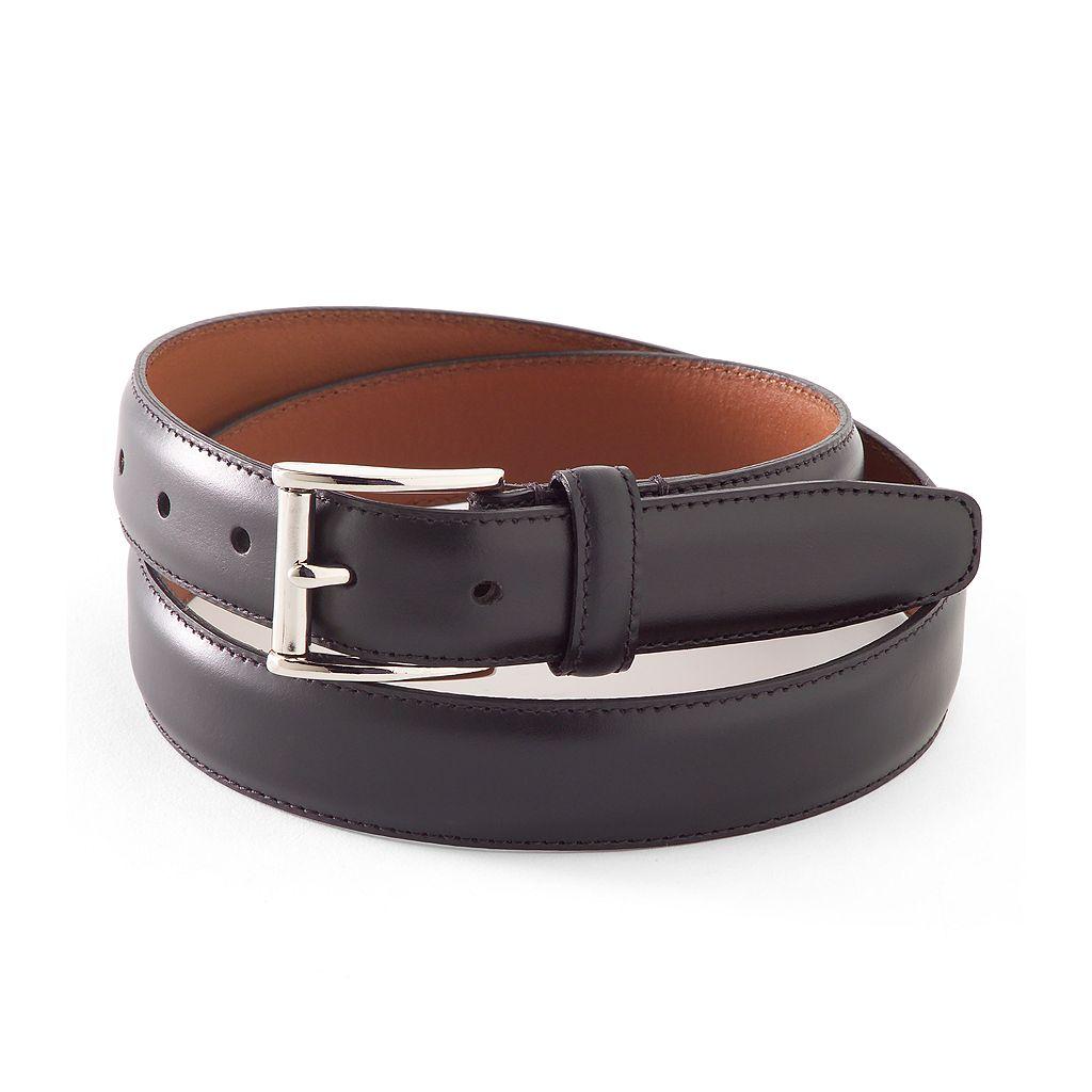 Chaps Nickel Buckle Leather Belt