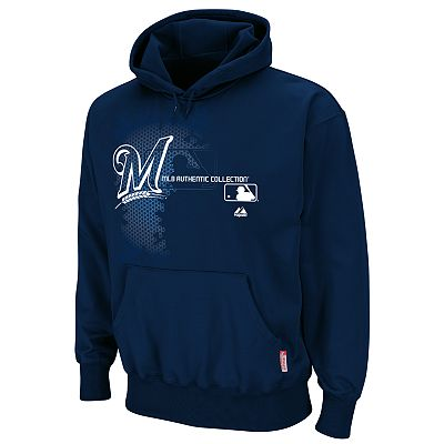 Majestic Milwaukee Brewers AC Therma Base Performance Fleece Hoodie