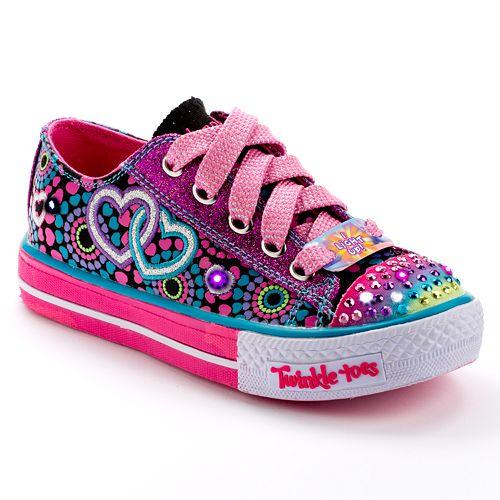 f0b0dd4309bb Skechers Twinkle Toes Walk of Love Girls  Light-Up Shoes