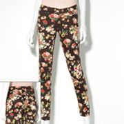 Princess Vera Wang Floral Twill Skinny Jeans - Juniors