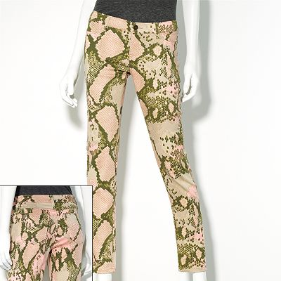 Princess Vera Wang Snakeskin Jeans - Juniors