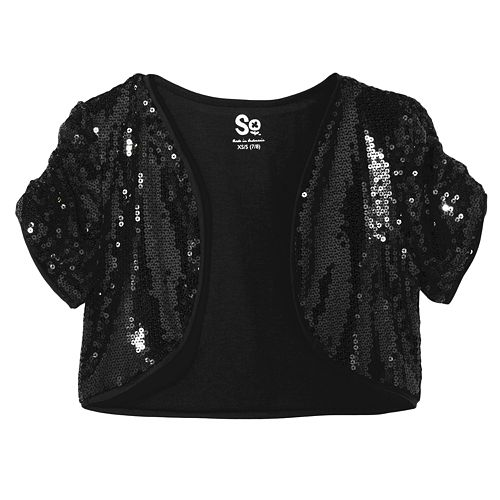 So Sequin Crop Shrug - Girls Plus $ 19.20