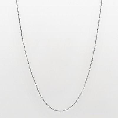 14k White Gold Textured Wheat Chain Necklace - 20-in.