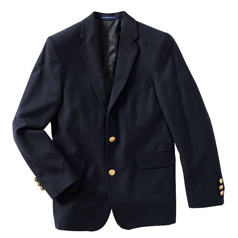 Blue blazer outerwear kohl 39 s for Van heusen studio shirts big and tall