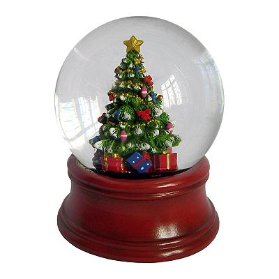 St. Nicholas Square Christmas Tree Musical Snowglobe
