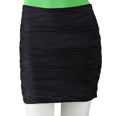 HeartSoul Textured Body Con Skirt - Juniors