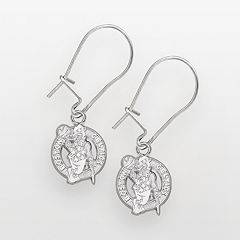 Boston Celtics Sterling Silver Logo Drop Earrings