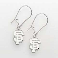 LogoArt San Francisco Giants Sterling Silver Logo Drop Earrings