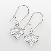 New York Knicks Sterling Silver Logo Drop Earrings
