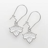 New York Knicks Sterling Silver Logo Drop Earrings