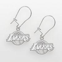 Los Angeles Lakers Sterling Silver Logo Drop Earrings