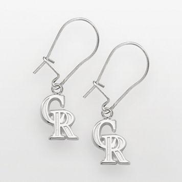LogoArt Colorado Rockies Sterling Silver Logo Drop Earrings