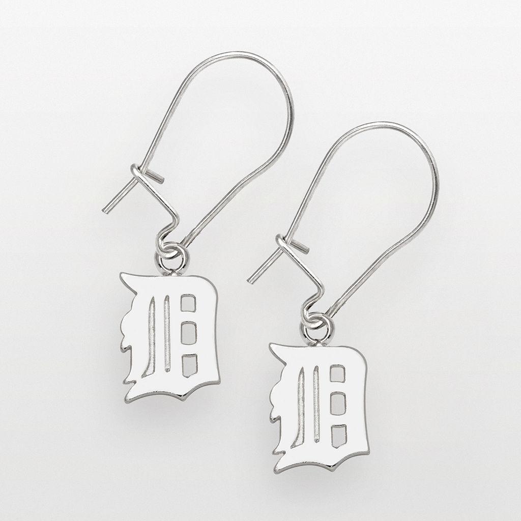 LogoArt Detroit Tigers Sterling Silver Logo Drop Earrings