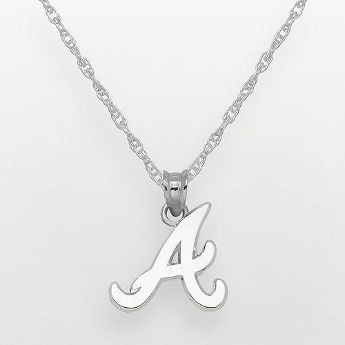 LogoArt Atlanta Braves Sterling Silver Logo Pendant