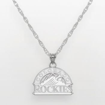 Colorado Rockies Sterling Silver Logo Pendant