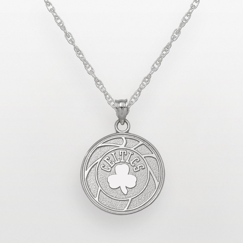 Boston Celtics Sterling Silver Logo Pendant