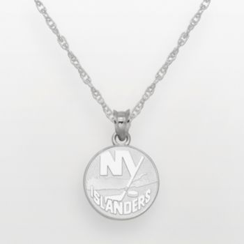 New York Islanders Sterling Silver Logo Pendant