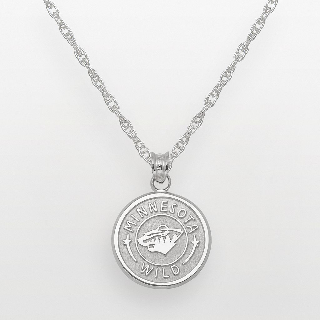 LogoArt Minnesota Wild Sterling Silver Logo Pendant