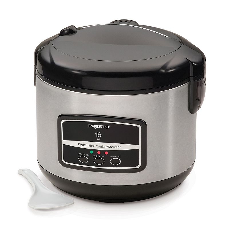 Presto 16-Cup Digital Rice Cooker, Black
