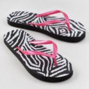 SO Zebra Flip-Flops