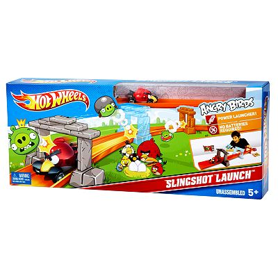 Hot Wheels Angry Birds Slingshot Launch Track Set by Mattel