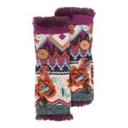 MUK LUKS Boho Faux-Fur Button Arm Warmers