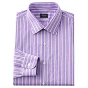 Arrow Fitted Striped Easy-Care Spread-Collar Dress Shirt