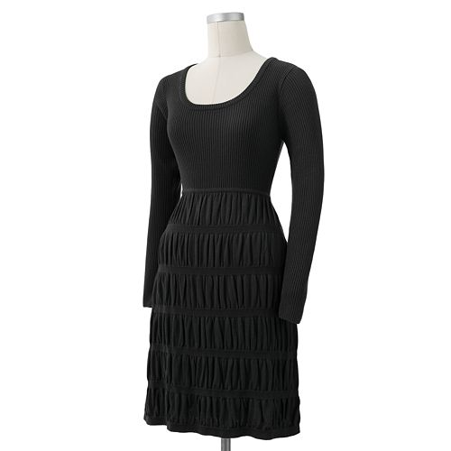 AB Studio Ribbed Pucker Sweaterdress