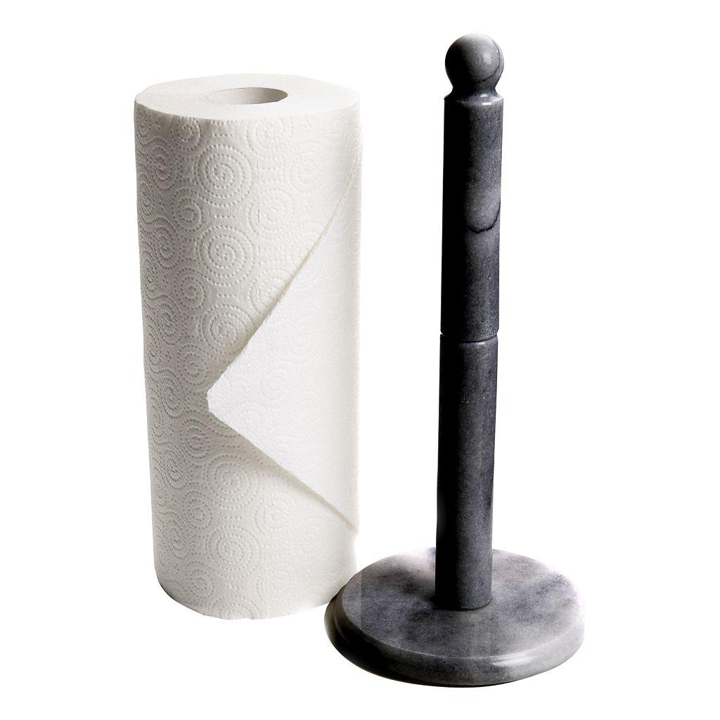Fox Run Black Marble Paper Towel Holder