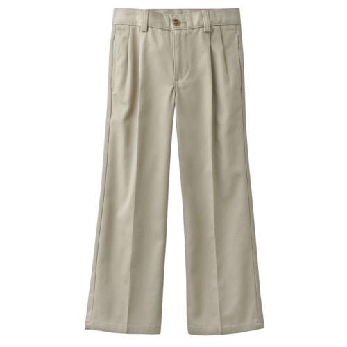Chaps Pleated Twill School Uniform Pants - Boys 4-7x