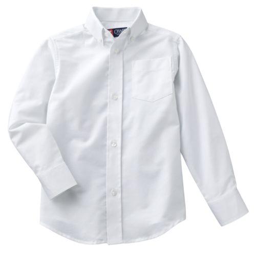 Chaps Solid Oxford School Uniform Button-Down Shirt - Boys 4-7