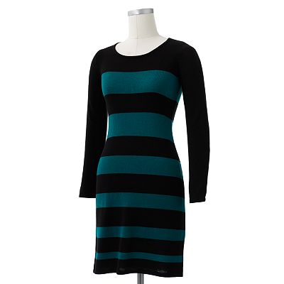 AB Studio Striped Sweaterdress