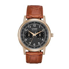 Citizen Eco-Drive Men's Leather Watch - AO9003-08E