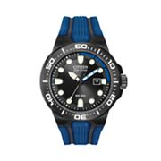 Citizen Eco-Drive Stainless Steel Black Ion Dive Watch - BN0097-02H - Men