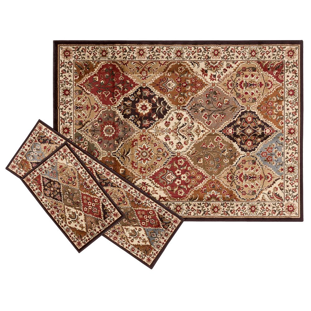 KHL Rugs Traditional Abstract 3-pc. Rug Set