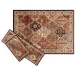 KHL Rugs Traditional Abstract 3 pc Rug Set
