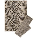 KHL Rugs Transitional Zebra-Print 3 pc Rug Set