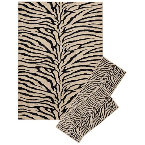KHL Rugs Transitional Zebra-Print 3-pc. Rug Set