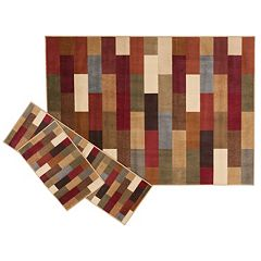 KHL Rugs Contemporary Abstract 3 pc Rug Set