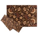 KHL Rugs Transitional Floral Paisley 3-pc. Rug Set