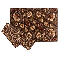 KHL Rugs Transitional Floral Paisley 3 pc Rug Set