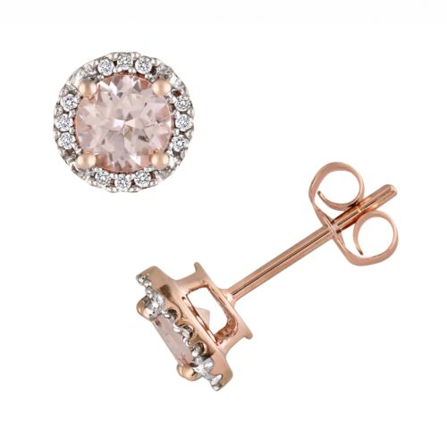 kohl s earrings studs stella grace 10k gold morganite and accent 9706